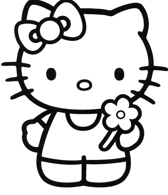661x768 Hello Kitty Coloring Pages Free Printable Hello Kitty Popular