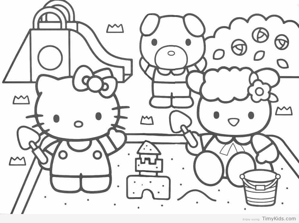 992x743 Baby Hello Kitty Coloring Pages Timykids Inside Of Decorations