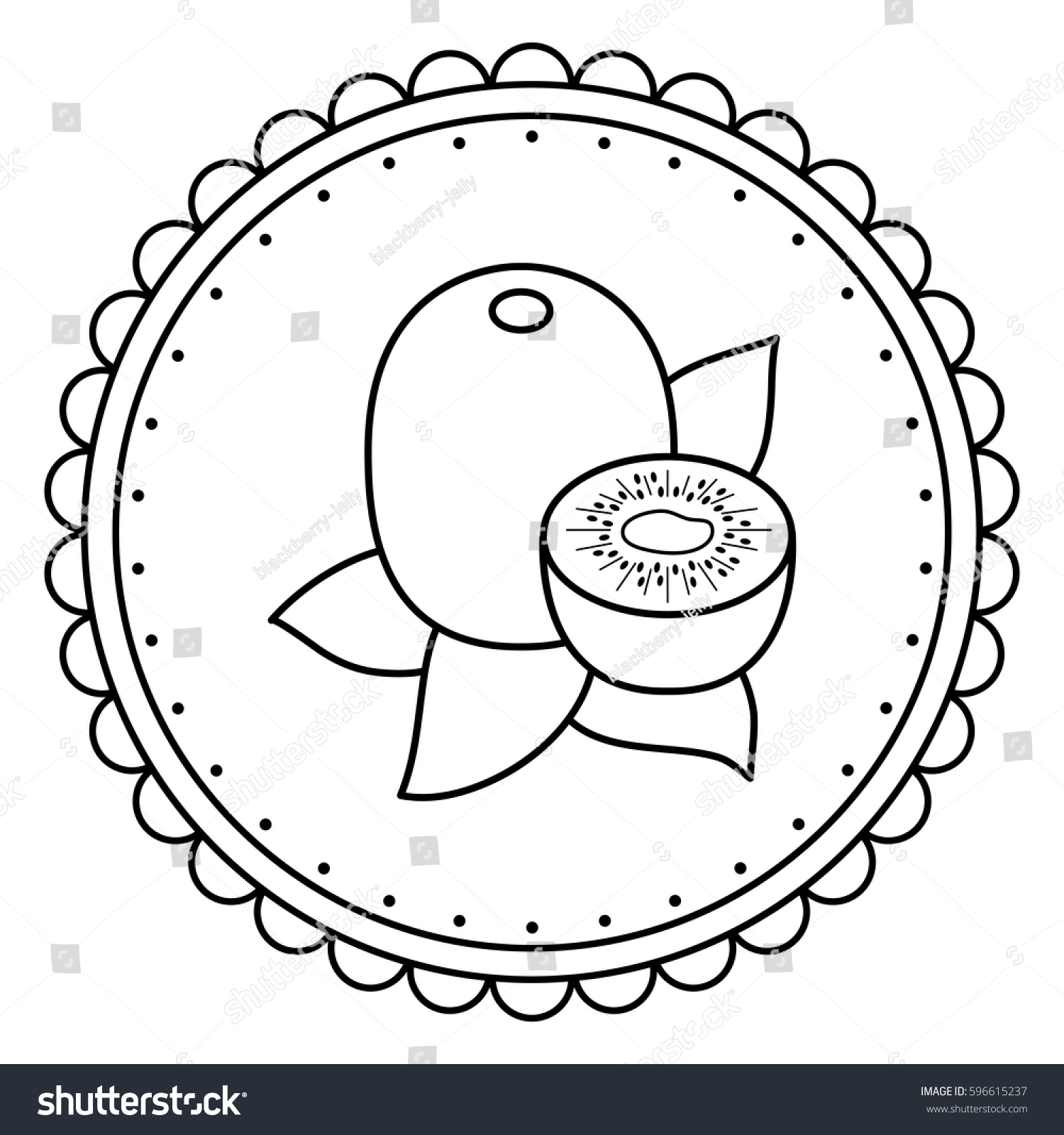 1500x1600 Stock Vector Black And White Illustration Of A Kiwi Coloring Page
