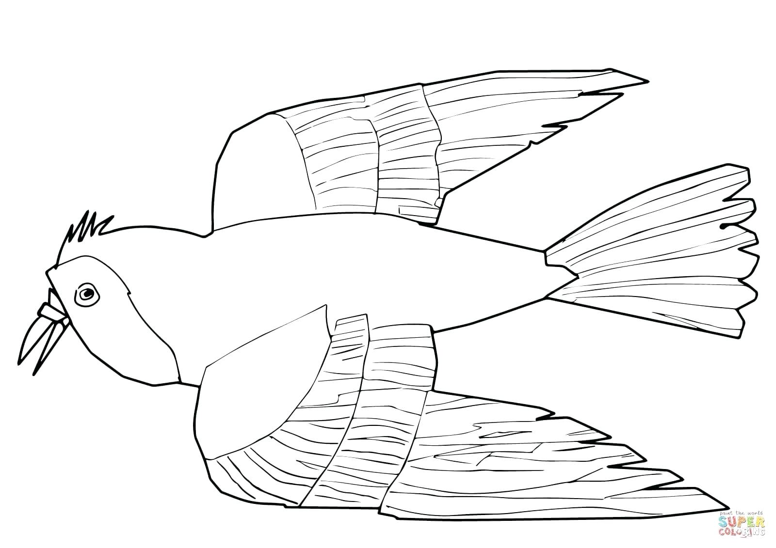 1600x1131 Coloring Pages Online Flowers Red Bird What Do You See Page Free