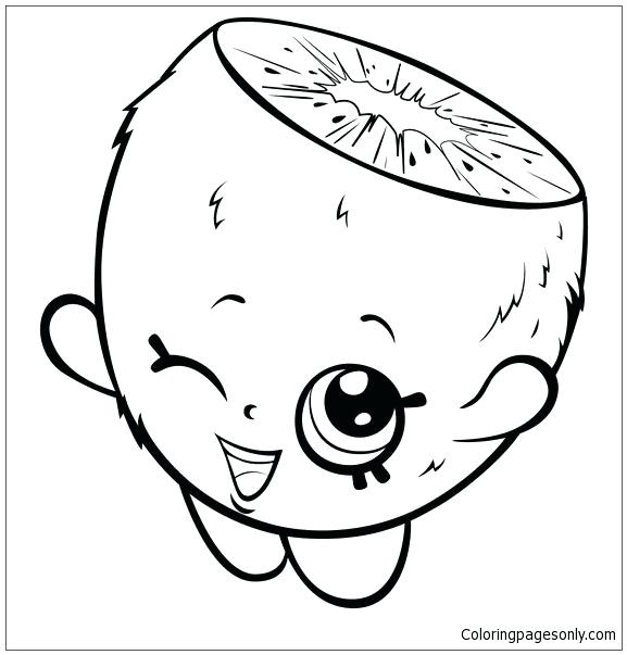 577x603 Cute Cartoon Kiwi Coloring Page Free Coloring Pages Online Cute
