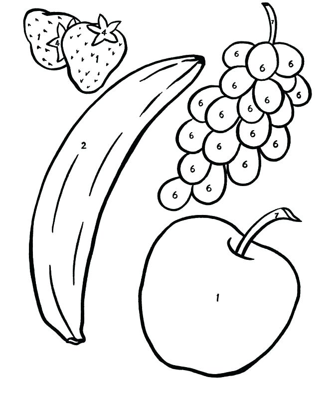 670x820 Fruit Coloring Sheet Fruit Coloring Pages Fruit Coloring First