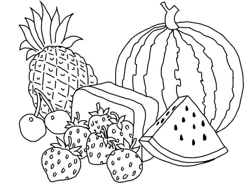 800x600 Fruit Coloring Sheet Fruit Coloring Pages Fruits Coloring Sheet