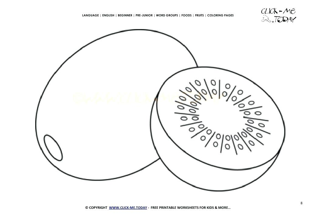1041x736 Fruits Coloring Pages Kiwi Coloring Page Free Printable Kiwi Cut