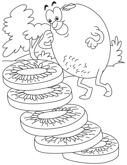 420x542 Kiwi Coloring Page Download Free Kiwi Coloring Page For Kids