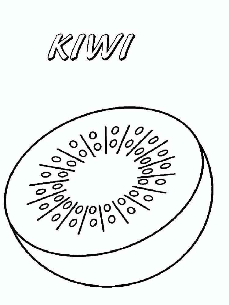750x1000 Kiwi Fruit Coloring Pages Download And Print Kiwi Fruit Coloring