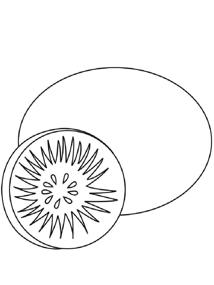 750x1000 Free Printable Kiwi Fruit Coloring Pages For Kids