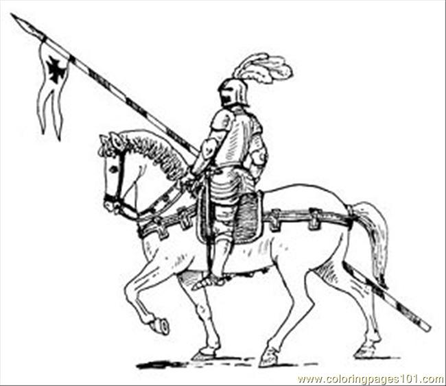 650x563 Knight Coloring Page