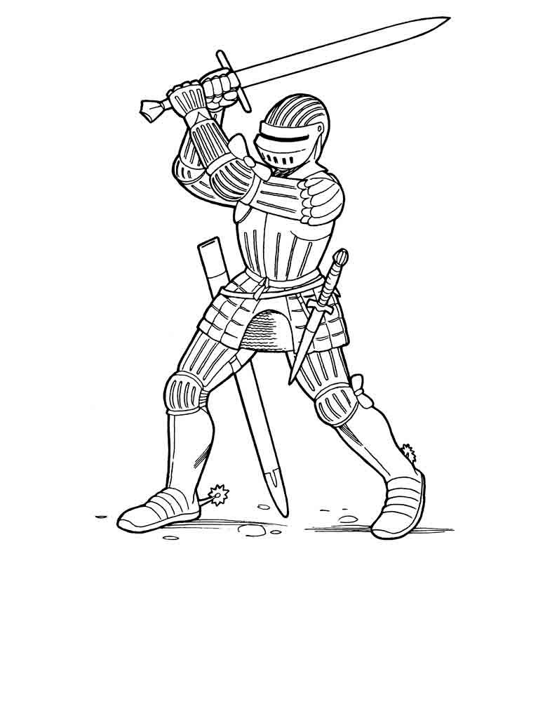 767x1000 Knight Coloring Pages