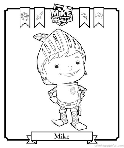 425x510 Printable Mike The Knight Coloring Pages Para Colorear