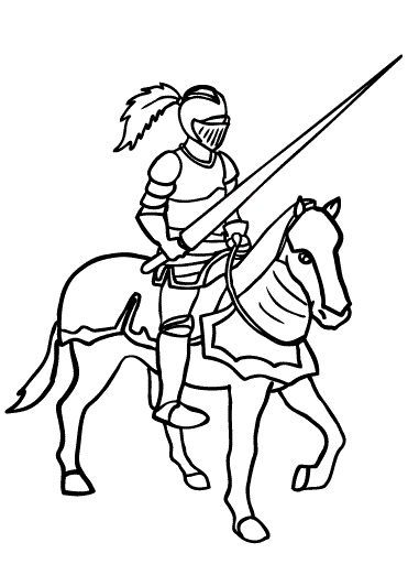 371x532 Top Knight Coloring Pages For Kids
