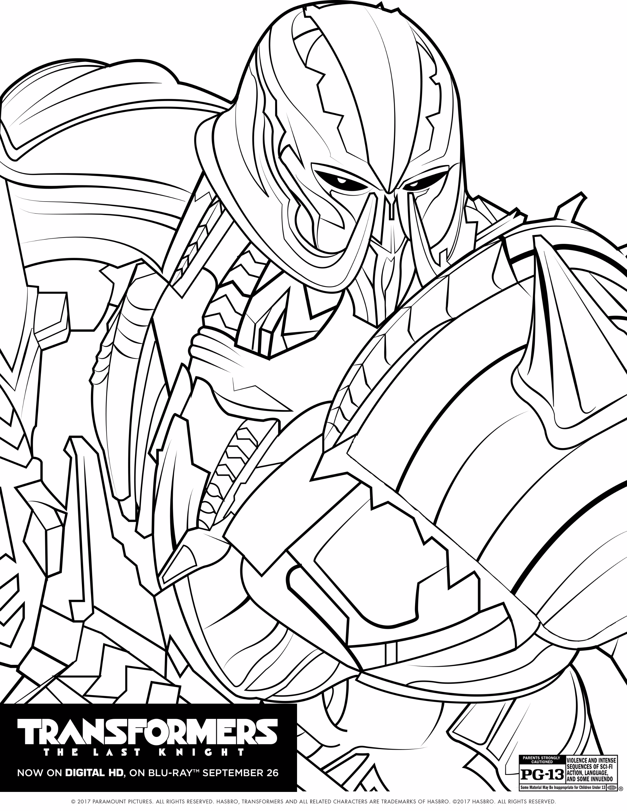 2136x2764 Transformers The Last Knight Coloring Pages The Review Wire