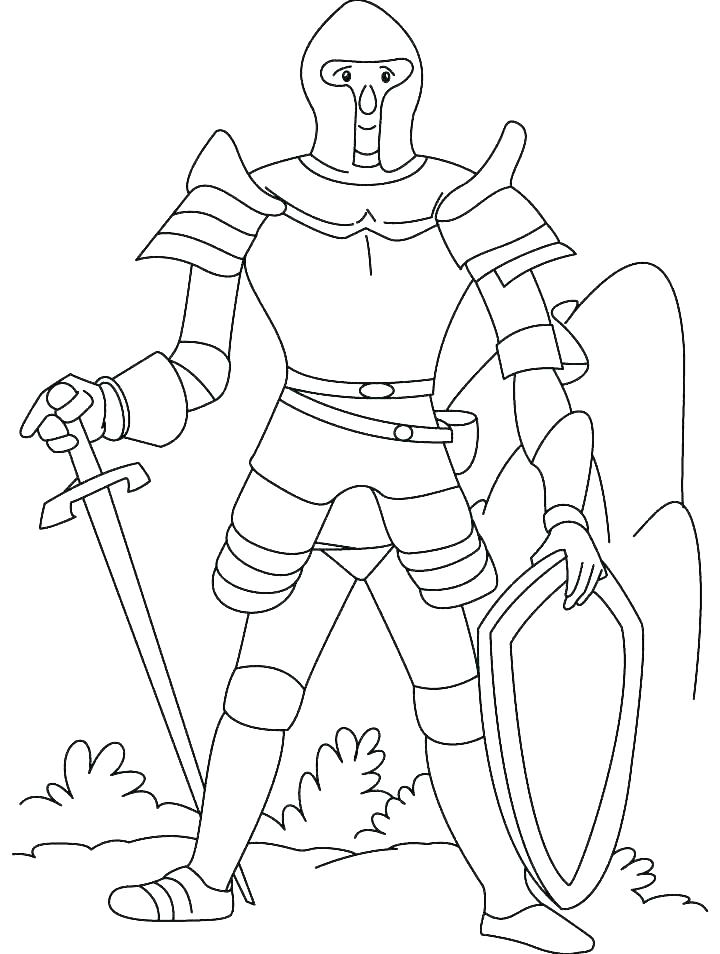 720x954 Knights Coloring Pages