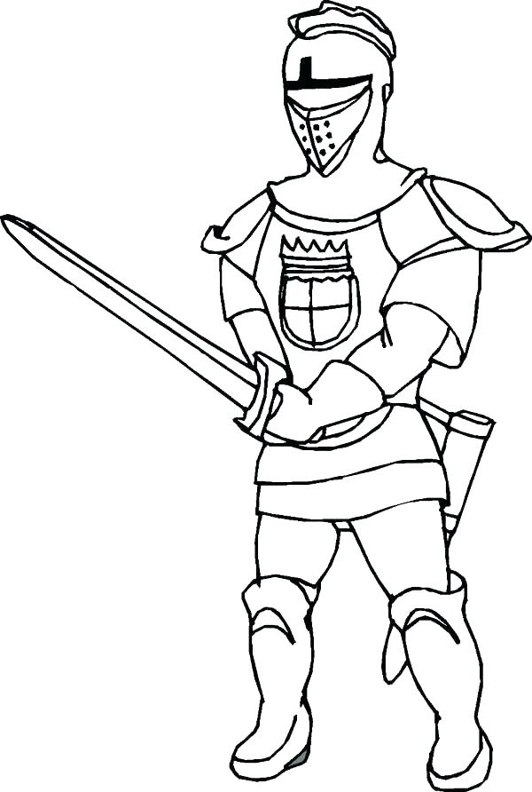 600x892 Coloring Pages Of Knights Medieval Knight Coloring Pages Knight