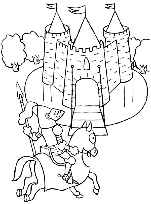 600x809 Knights And Castles Coloring Pages