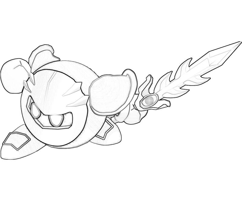 800x667 Meta Knight Coloring Pages