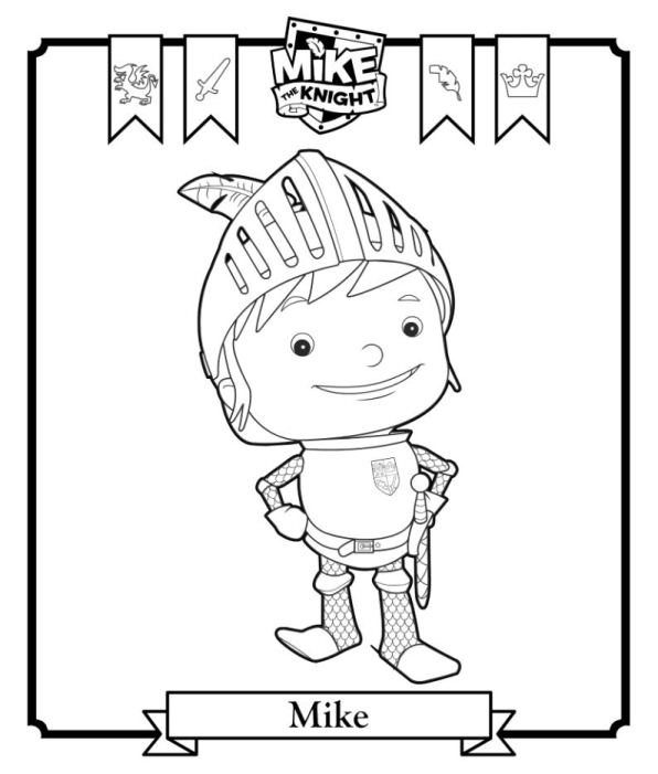 596x701 Mike The Knight Coloring Pages