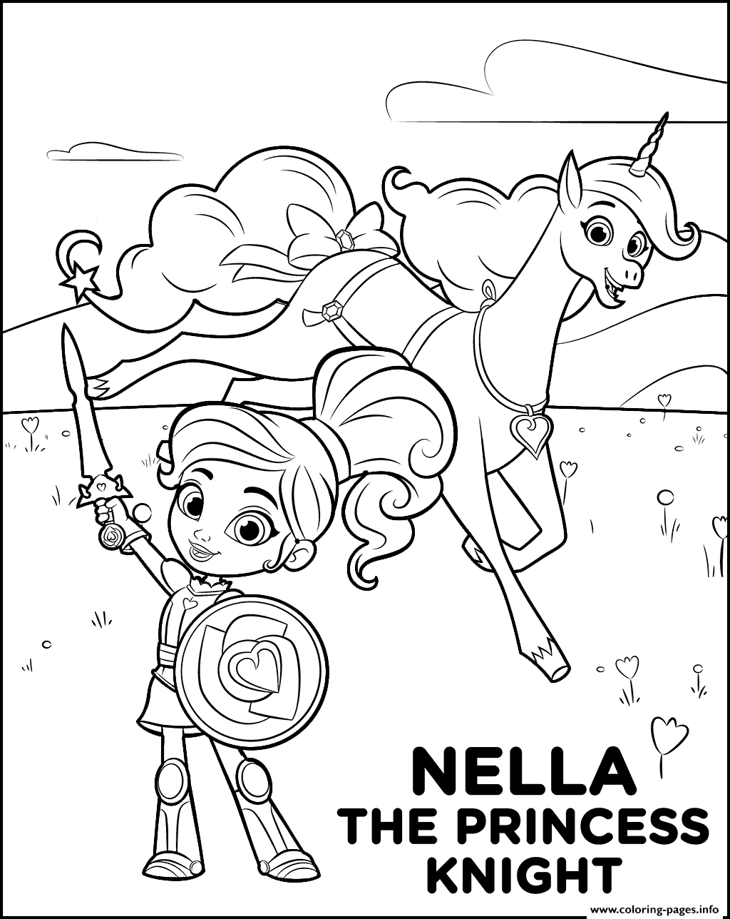 1024x1288 Princess And Knight Coloring Pages Printable