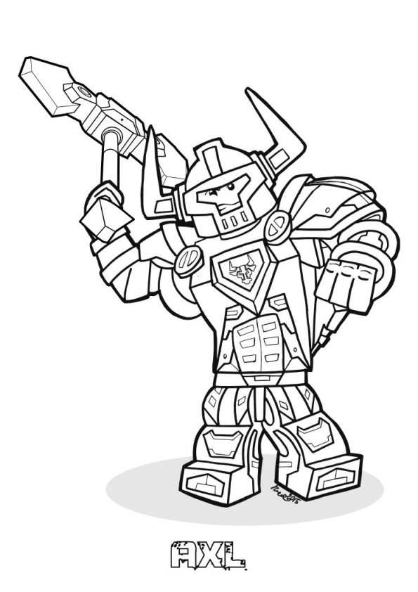 595x842 Kids N Coloring Pages Of Lego Nexo Knights