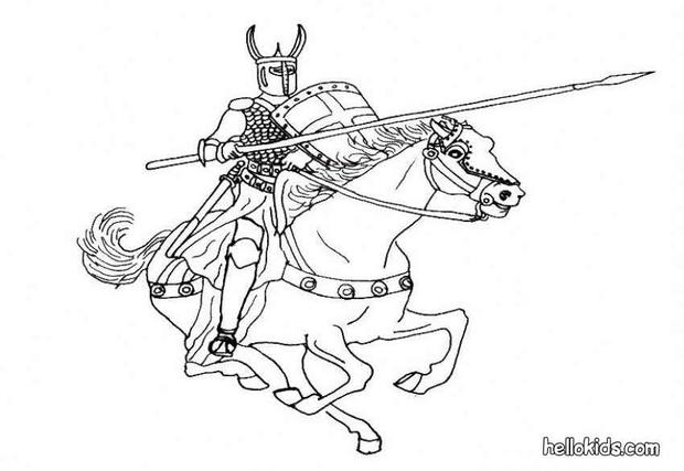 620x427 Knight Coloring Pages Hellokids Knights Coloring Pages
