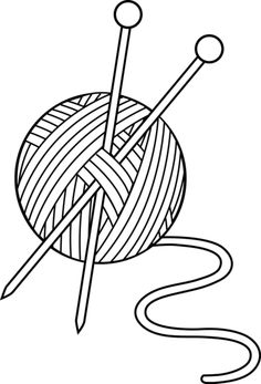 Knitting Coloring Pages