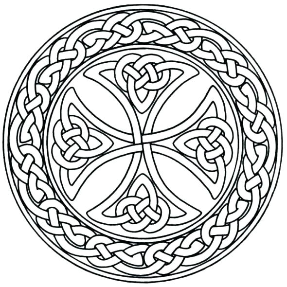 590x590 Celtic Knot Coloring Pages Celtic Cross Coloring Pages Cross