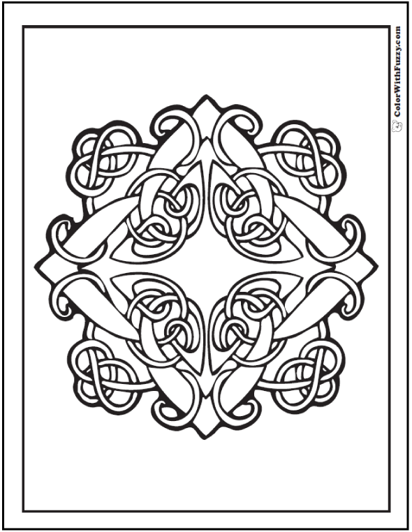 590x762 Celtic Coloring Pages Irish, Scottish, Gaelic Celtic Knots