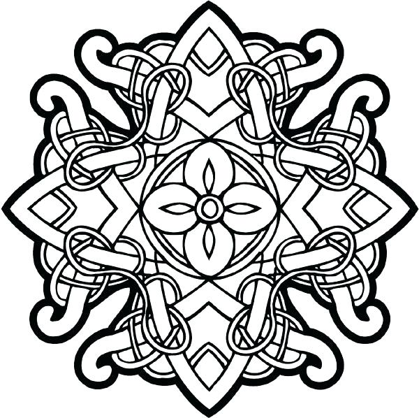 600x598 Celtic Coloring Pages For Adults Celtic Coloring Mandala Coloring