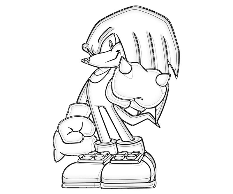 800x667 Knuckles The Echidna Coloring Pages