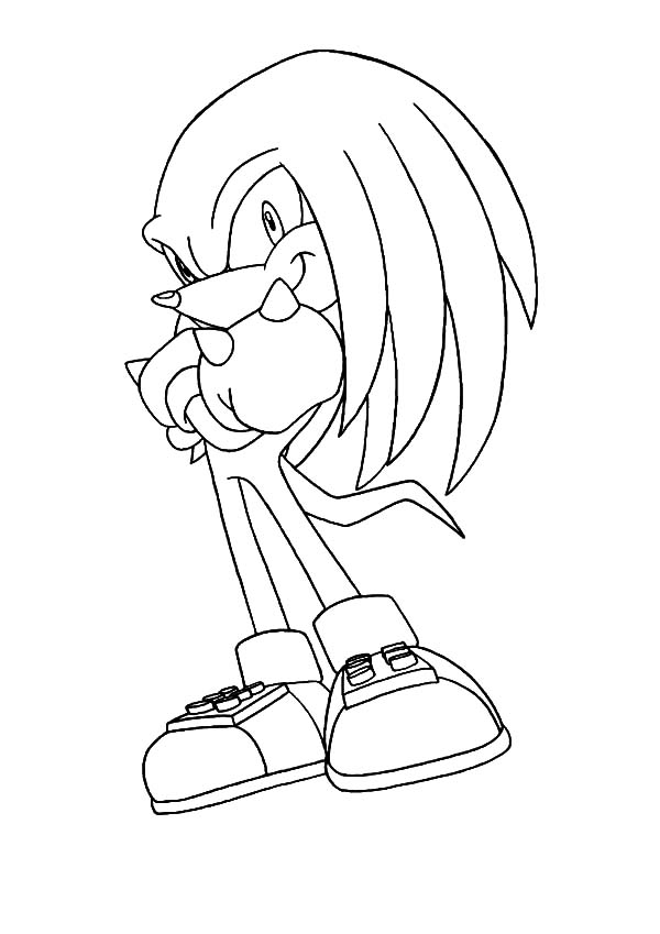 600x849 Knuckles The Echidna Coloring Pages