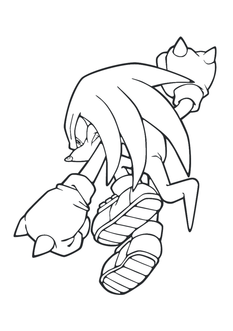 750x1064 Knuckels The Echidna Lineart
