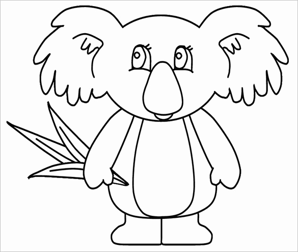 585x494 Koala Bear Coloring Page Image Koala Templates Crafts