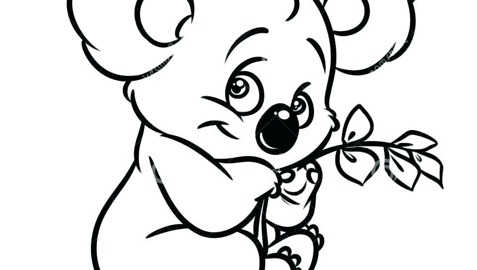 960x544 Koala Bear Coloring Page Koala Coloring Pages Koala Bear Coloring