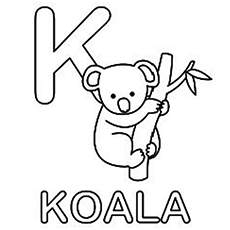 230x230 Koala Coloring Pages