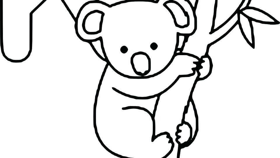 960x544 Koala Bear Coloring Page