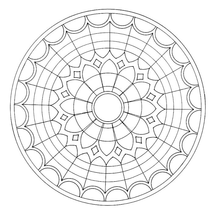706x709 Stained Glass Window Coloring Page Stained Glass Stained Glass