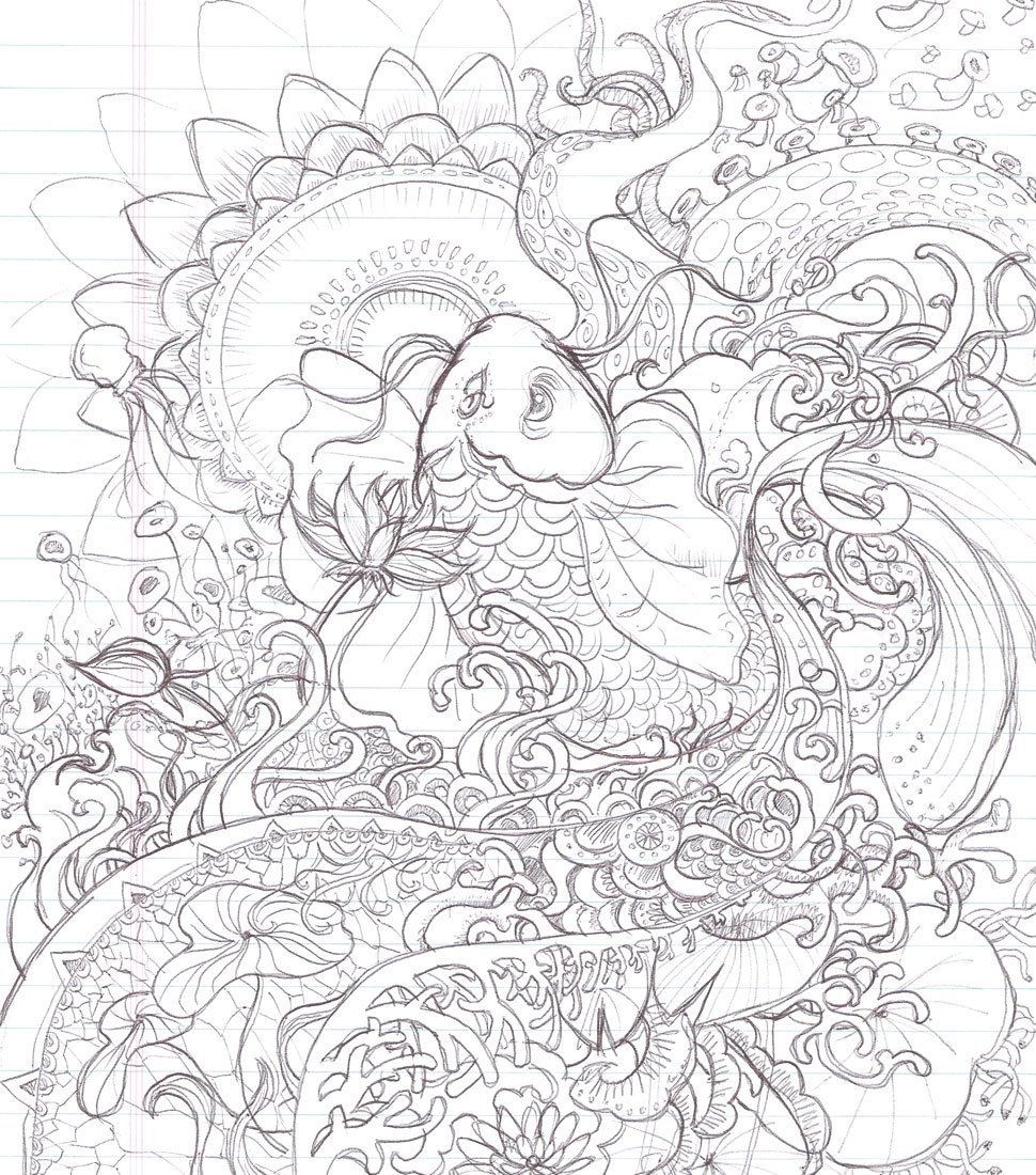 Koi Coloring Page