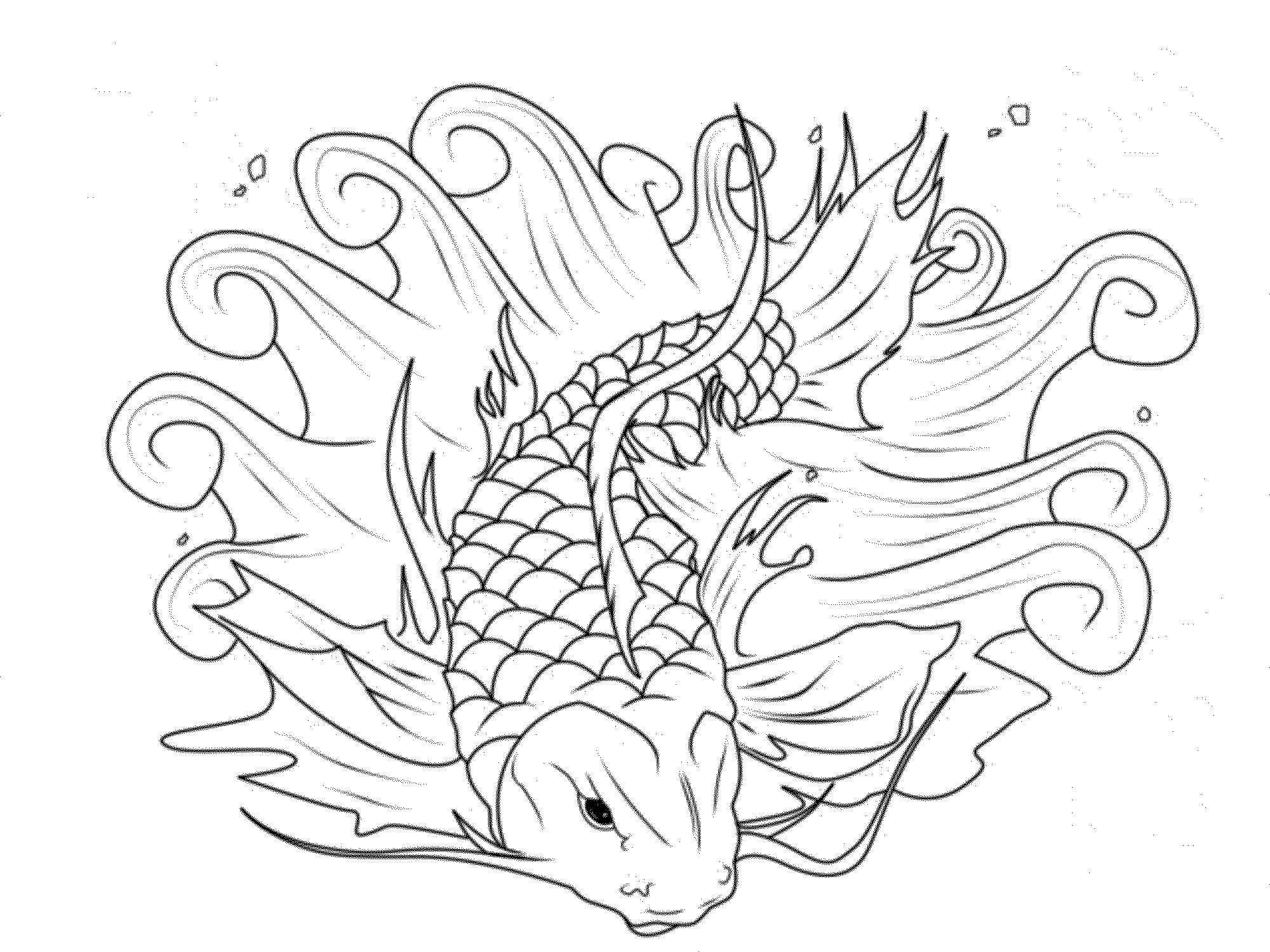 2000x1500 Koi Coloring Pages For Adults Koi Fish Coloring Pages Koi Fish