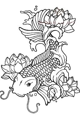 258x380 Koi Fish Tattoos Koi, Adult Coloring And Coloring Books