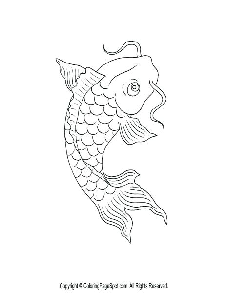463x600 Realistic Fish Coloring Pages Medium Size Of Page Bass Koi