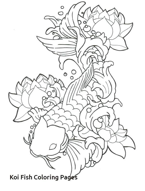 600x791 Koi Fish Coloring Pages Fish Coloring Pages For Adults Free