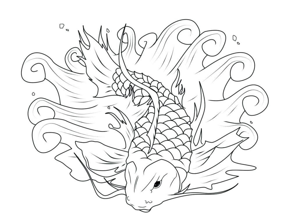 1024x742 Koi Fish Coloring Pages Fish Coloring Pages To Download And Print