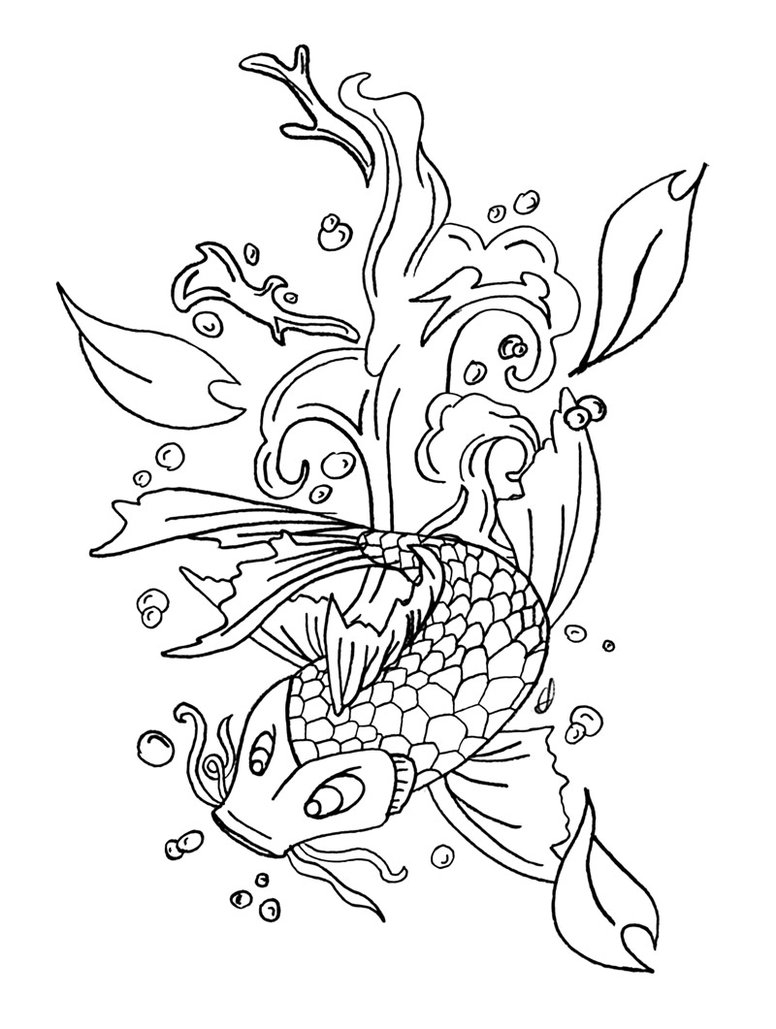 776x1029 Koi Fish Coloring Pages Koi Fish Coloring Page Printable