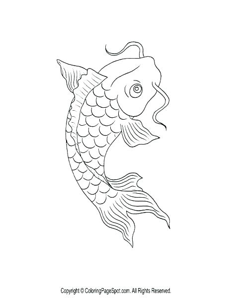 463x600 Realistic Koi Fish Coloring Pages Printable Coloring Fish Coloring