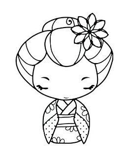 260x329 Cute Japanese Girl In A Kimono To Print And Color In Kids
