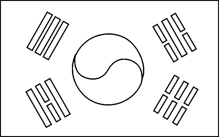 700x439 South Korea Flag Coloring Pages