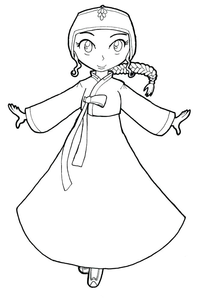 673x1000 Best Coloring Pages Images On South Korean Hanbok Coloring Pages
