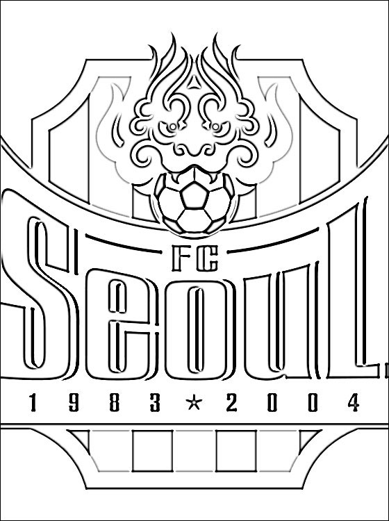 560x750 Emblem Of Fc Seoul Coloring Page Coloring Pages