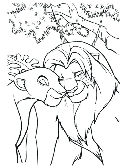 530x694 Lion King Color Pages And In Love The Lion King Coloring Page Lion