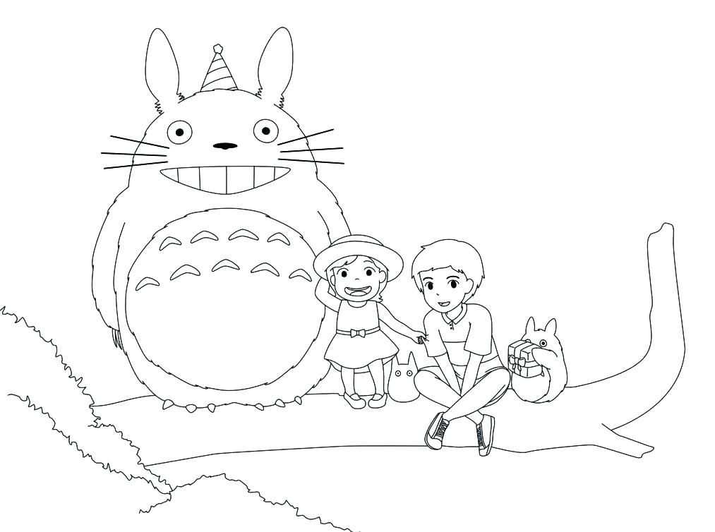 The best free Totoro coloring page images. Download from ...
